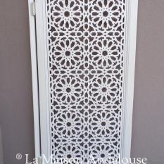 Porte saloon Khéops gris clair satiné, 85 x 170 cm
