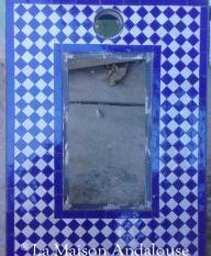 Cadre de miroir en zellige