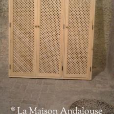 porte de placard en lame croisée