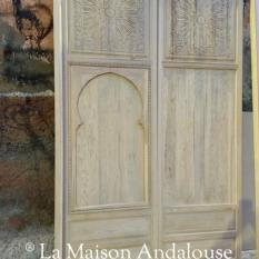 Porte en cours de fabrication