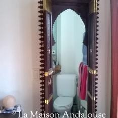 Porte Mauresque sculpté ouverte