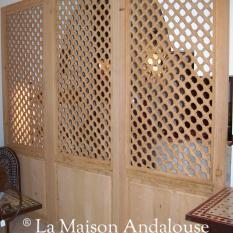 Panneaux marocains moucharabieh, panneaux andalous moucharabieh