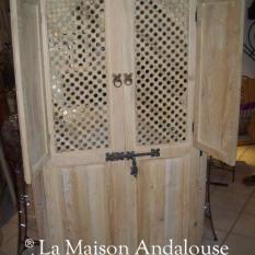 Porte Moucharabieh avec 2 volets ouvert