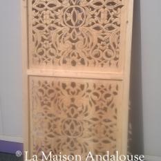 Panneau claustra bois