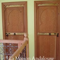 porte Marocaine sculptée en situation
