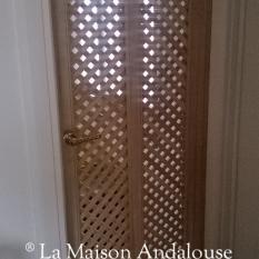 Porte en place salle de bain