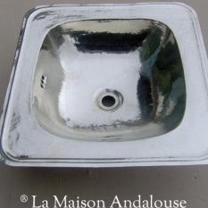 Vasque Maillechort argenté carré