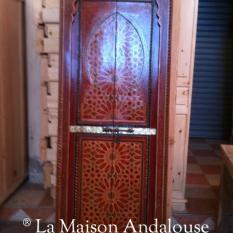 Porte bois peint 2 vantaux poussant