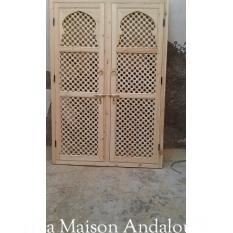 Porte double arche moucharabieh