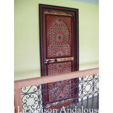 Porte bois peint 1 vantail poussante droite