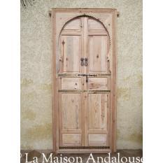 Porte Mauresque en bois brut