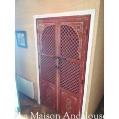 Porte moucharabieh bois peint